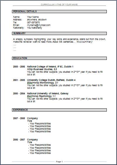 resume sample doc Pertamini